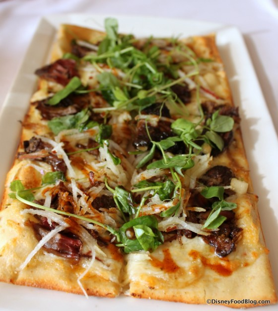 Chili Coffee Rubbed Pork Flatbread
