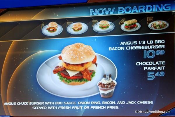 Angus 1/3 pound BBQ Bacon Cheeseburger on menu