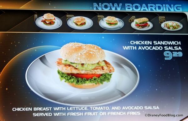 Chicken Sandwich with Avocado Salsa on menu