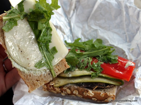 Portobello and Vegetable Sandwich