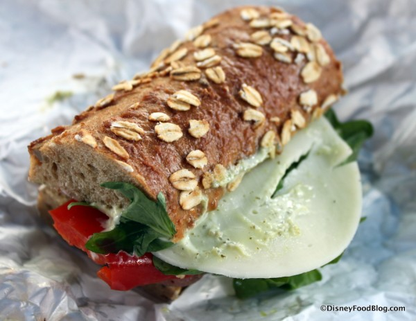 Portobello and Vegetable Sandwich