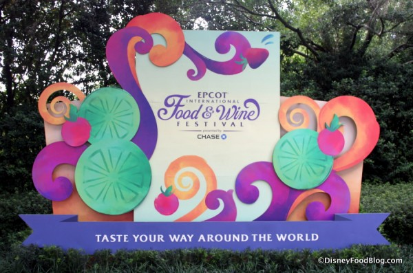 Epcot Food and Wine Festival Sign