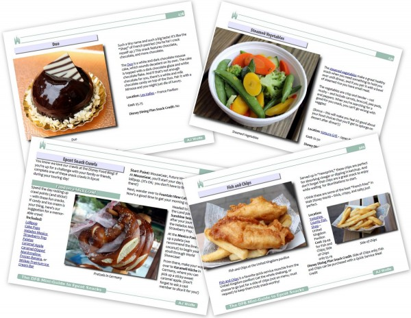 Epcot Snacks Guide Sample Pages