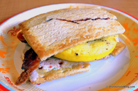 Pop Tart Breakfast Sandwich -- Up Close