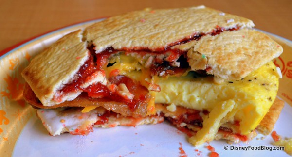Pop Tart Breakfast Sandwich -- Cross Section