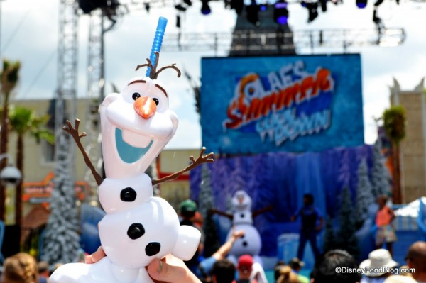 Souvenir Cup In Front Of Olaf's Summer Cool Down