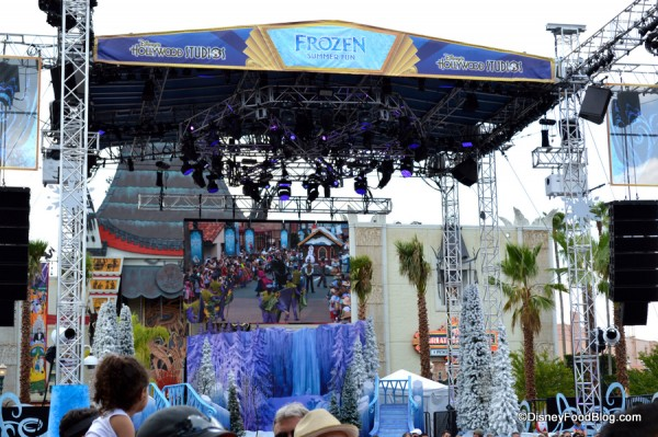 Center Stage During The Frozen Welcoming Ceremony