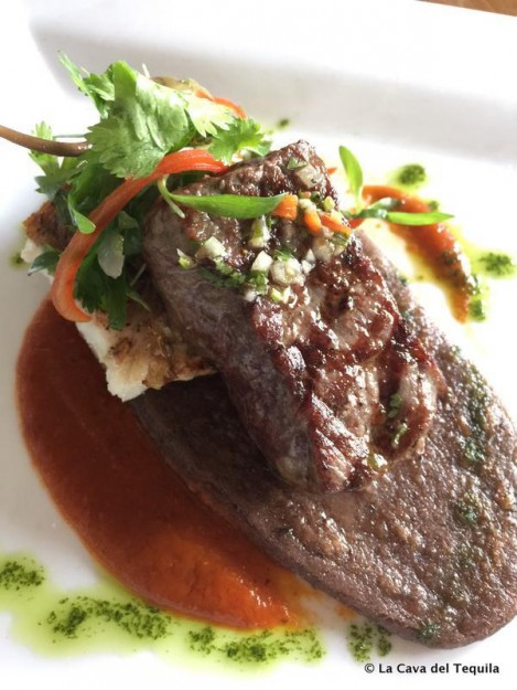 Red Snapper and New York Strip at Tequila Pairing Lunch