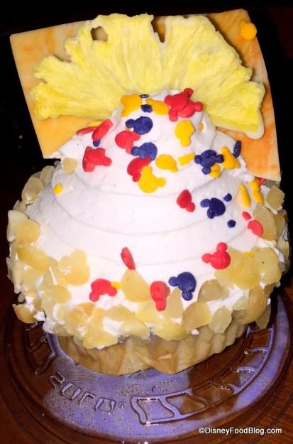 Pineapple Macadamia Nut Cupcake