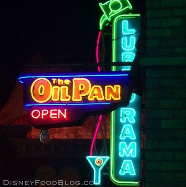 Lube-o-Rama and Oil Pan Neons in Cars Land