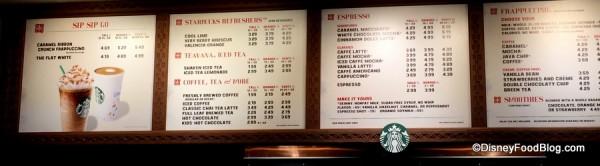 Starbucks Menu Board