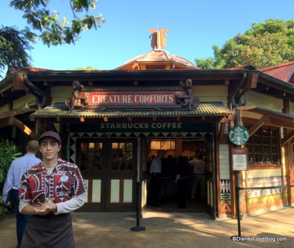 Creature Comforts Starbucks in Disney's Animal Kingdom