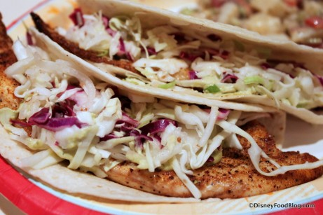 Spicy Fish Tacos -- Up Close