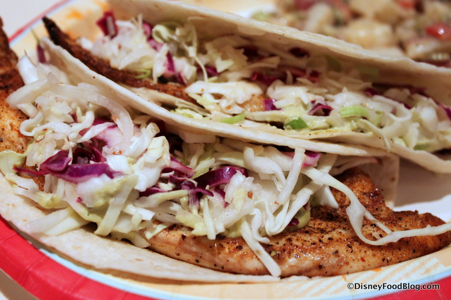 Review sunshine seasons at epcot s the land pavilion for Spicy fish tacos