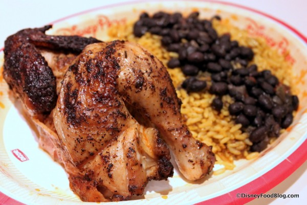 Roasted Chicken with Black Beans and Rice