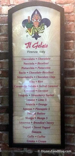 Vivoli Gelateria NOW OPEN in The Landing Area of Disney Springs