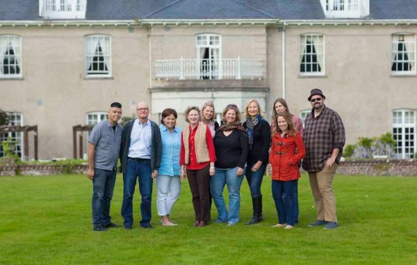 Winners and Writers at Dunbrody House in Ireland (photo by Raglan Road photographer Ivan Cummins)