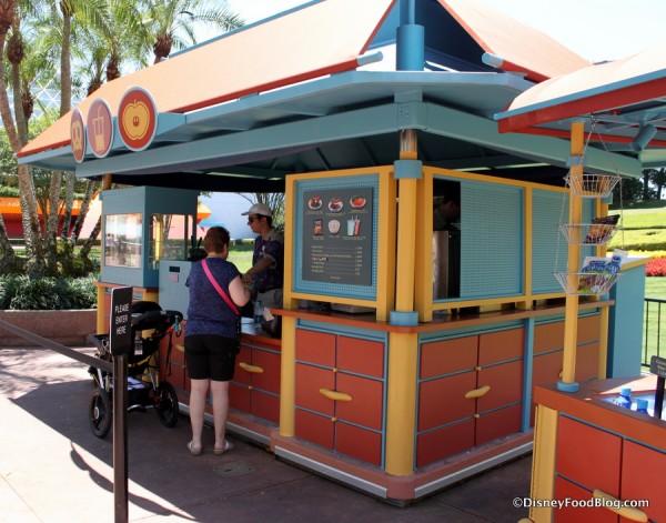 Better-for-you Snack Kiosk outside The Land