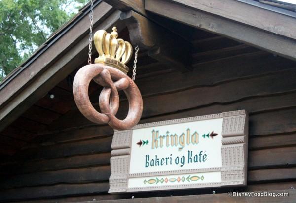 Kringla Bakeri og Kafe sign