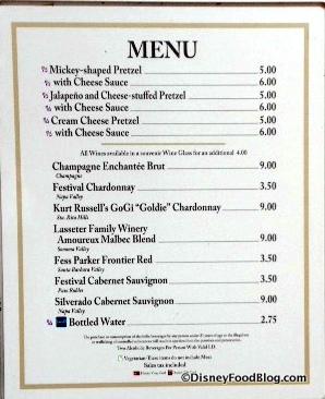 Block and Hans Festival menu