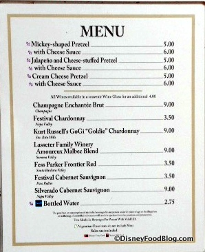 Block and Hans Festival menu