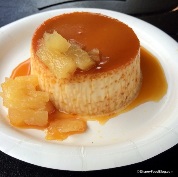 Caramel Flan with Roasted Pineapple