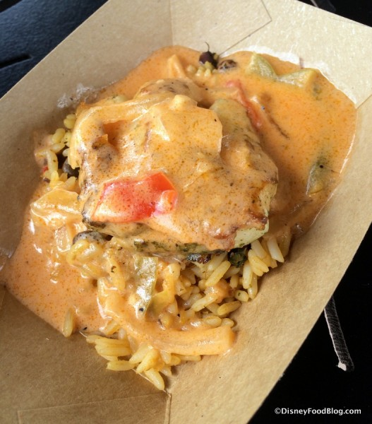 Pescado don Coco - Seared Grouper, Pigeon Peas, and Rice with Coconut Sauce