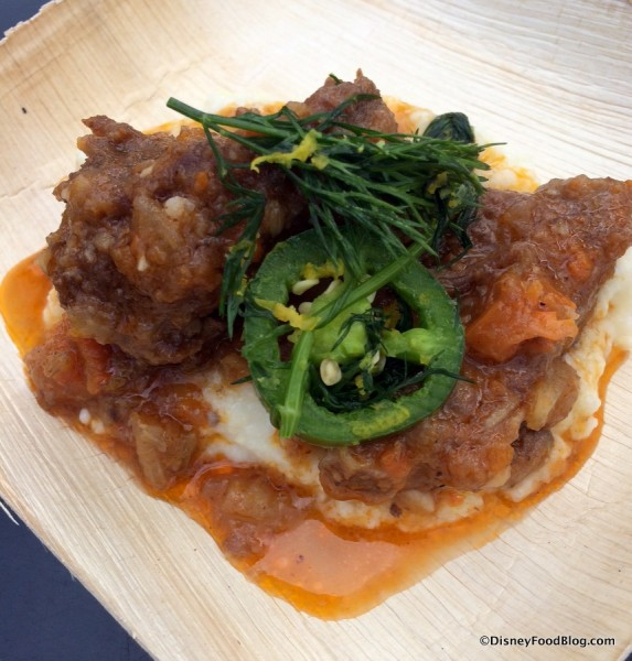 Savory Pork Spareribs with Red Wine and Fennel and Cheesy Mascarpone Grits