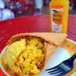 Review: Breakfast Waffle Cone from Disney World's BoardWalk Bakery