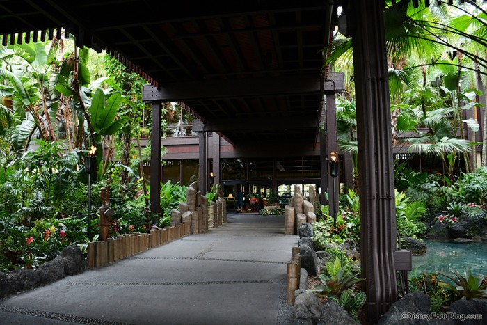 Disney's Polynesian Village Resort Entrance