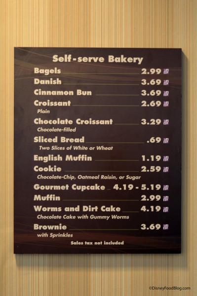 Contempo Café Bakery Menu