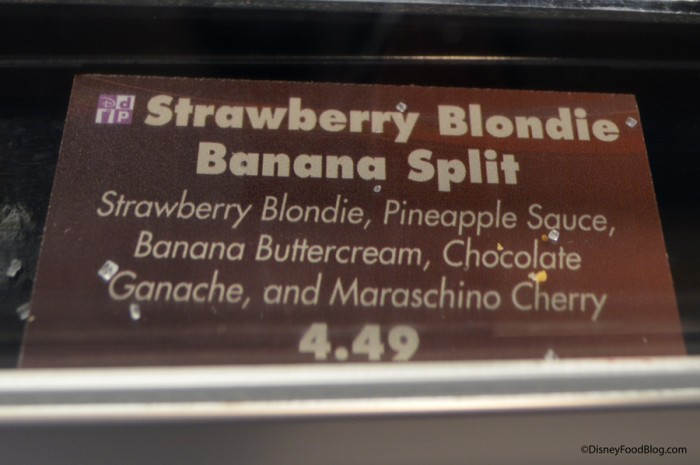 Strawberry Blondie Banana Split Sign