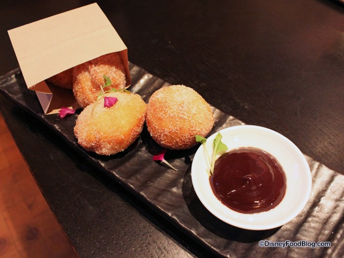 House- made donuts with nutella dipping sauce
