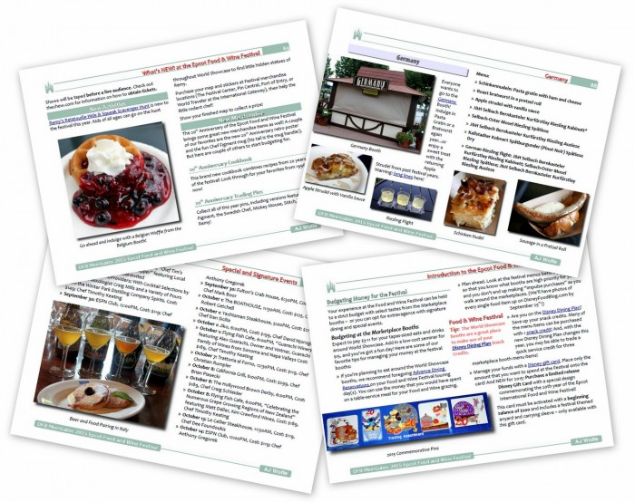 DFB Guide to the 2015 Epcot Food and Wine Festival sample pages
