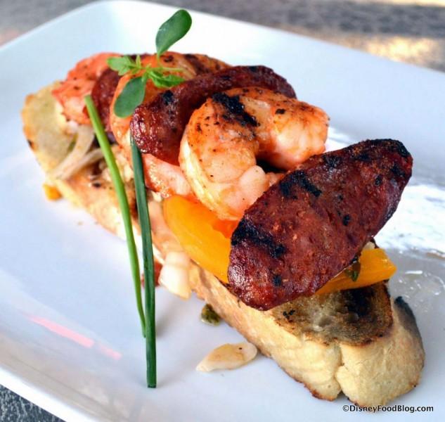 Shrimp and Chorizo Bruschetta