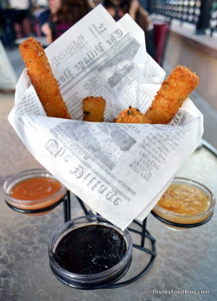 Crispy Bites and accompanying sauces