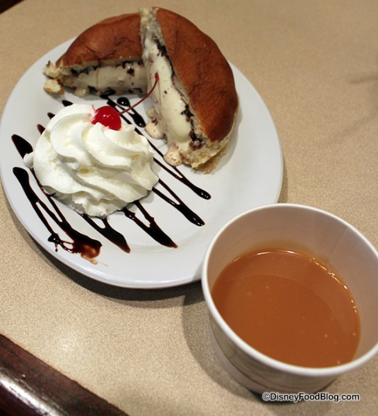 Ice Cream Panini with Dipping Sauce