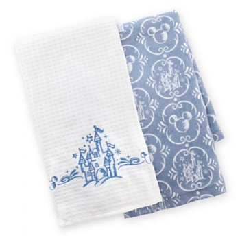 Round Up Mickey Fix Castle Kitchen Towels
