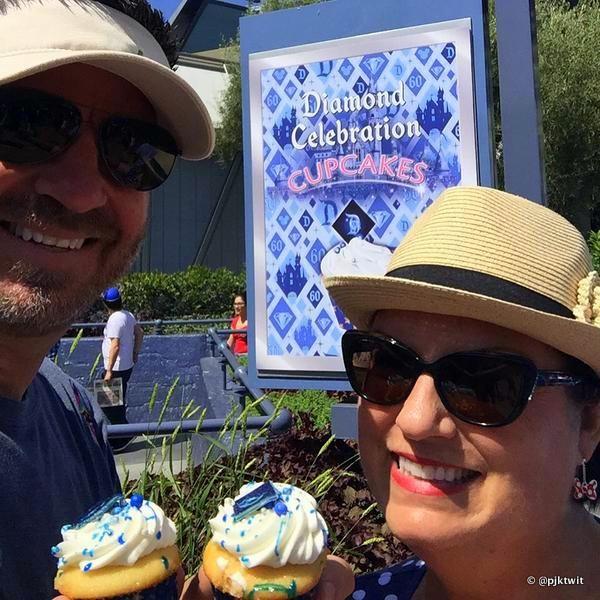 Diamond Jubilee Cupcakes at Disneyland!