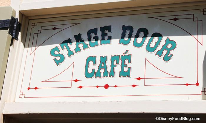 Stage Door Cafe sign