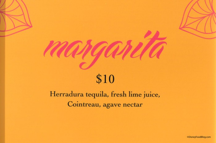 Juan and Only Margarita Menu