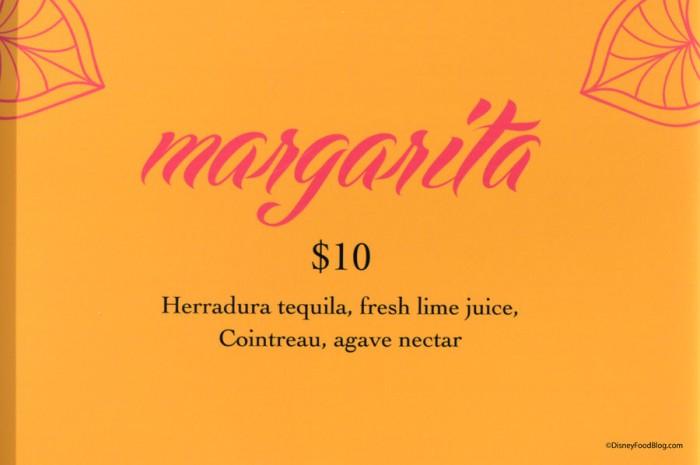 Juan and Only Margarita Menu
