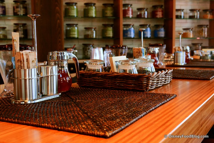Condiments at the Tea Bar