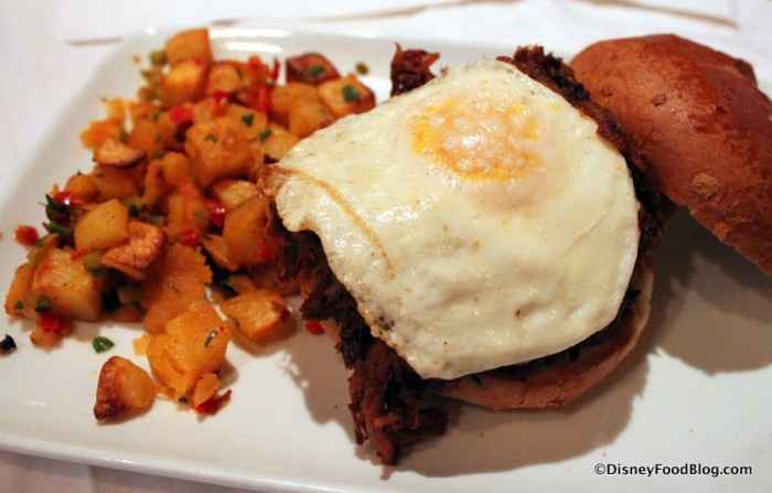 Slow Cooked Pulled Pork Over Easy Breakfast Sandwich