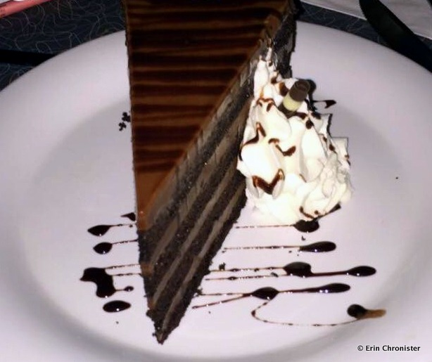 Chocolate Peanut Butter Cake at 50s Prime Time Cafe