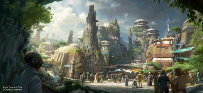 Star Wars Land Concept Art ©Disney