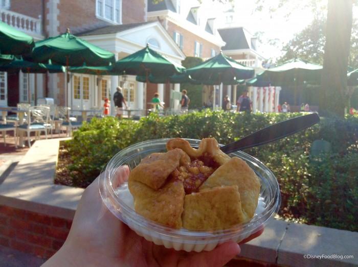 Apple Pie al la Mode In The American Pavilion Courtyard
