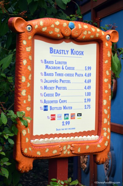 New Menu at Beastly Kiosk