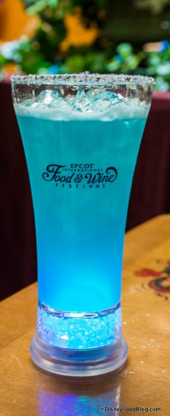 The Blue Glowtini with suviner cup