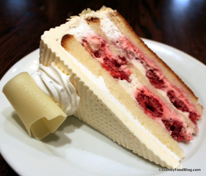 White Chocolate Raspberry Cake